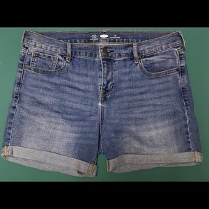 Woman's Old Navy Jean Shorts - Light Blue